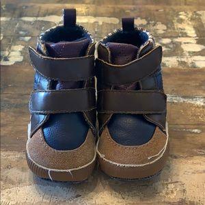 Baby boy first walker booties